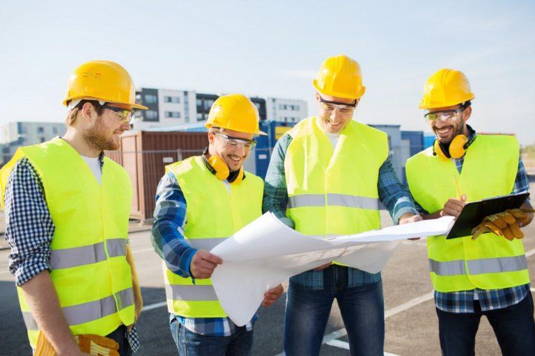 men wearing safety vest