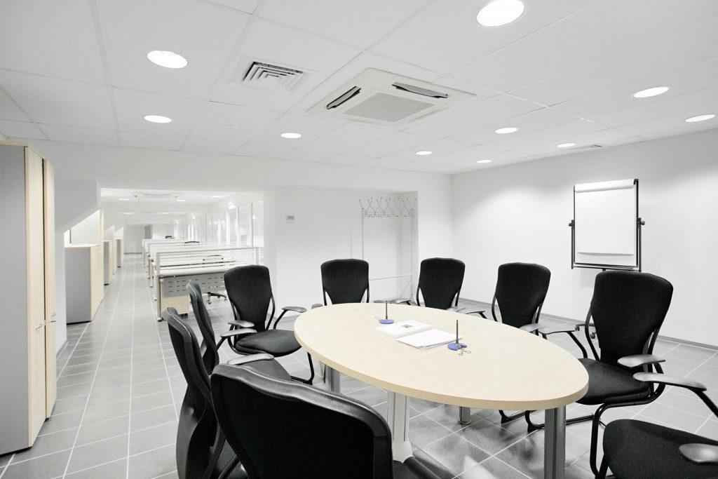 Empty meeting room