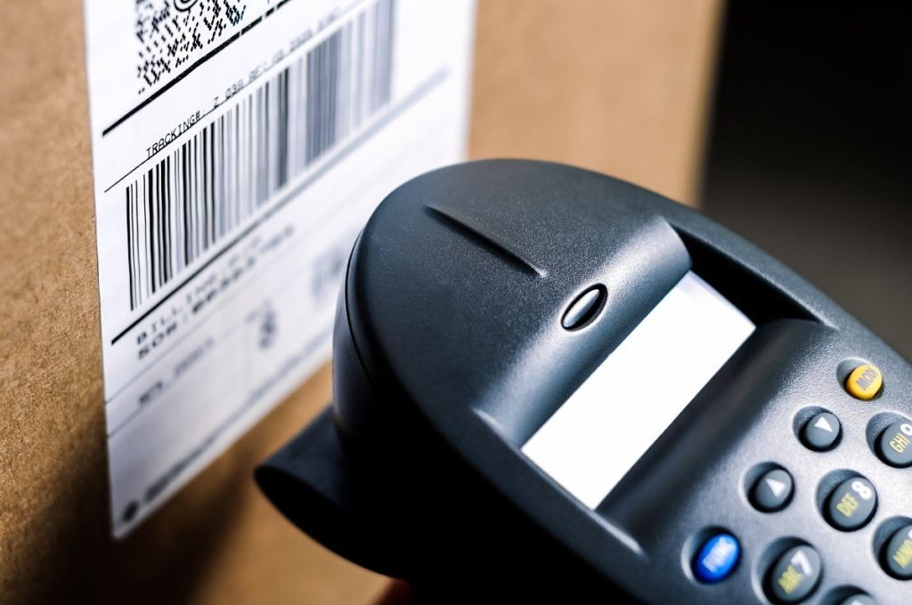 Package being scanned