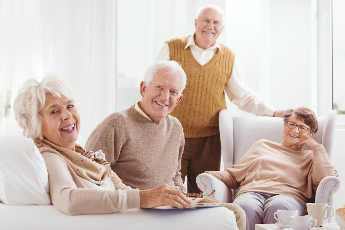 Old people gathered together