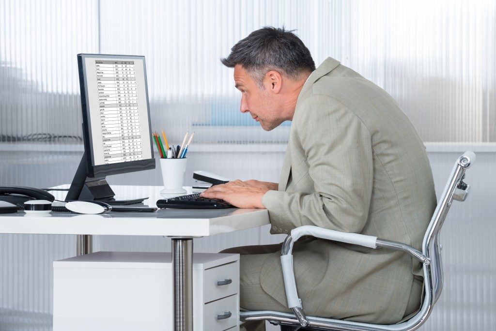 Improper working posture