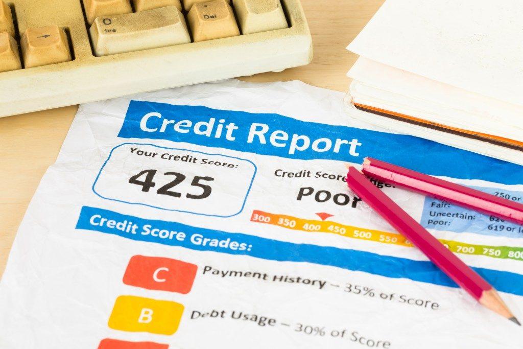 Poor credit report