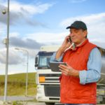 truck driver on a call