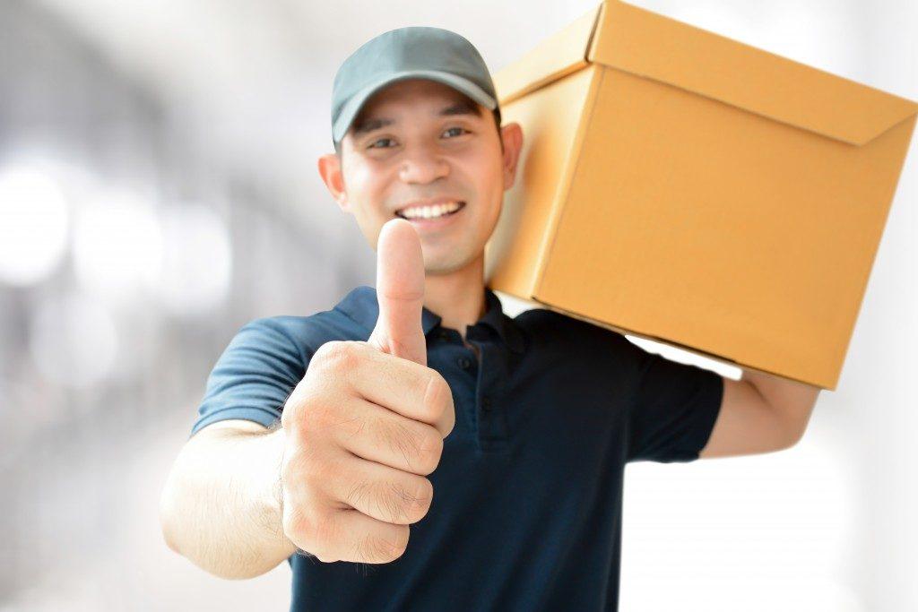 portrait of a courier man