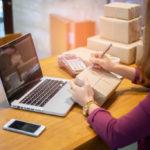 woman arranging shipping