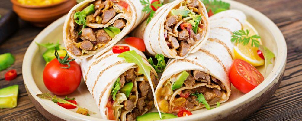 burritos in a restaurant
