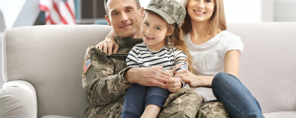 Veteran with his family