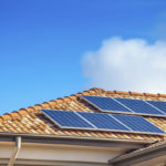 home with solar panels