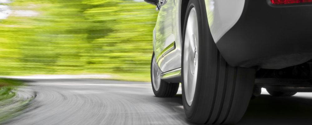 Car on a curve
