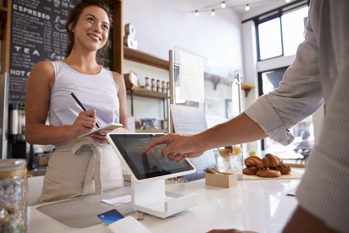 cashier in coffee shop