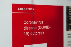 COVID-19 outbreak sign