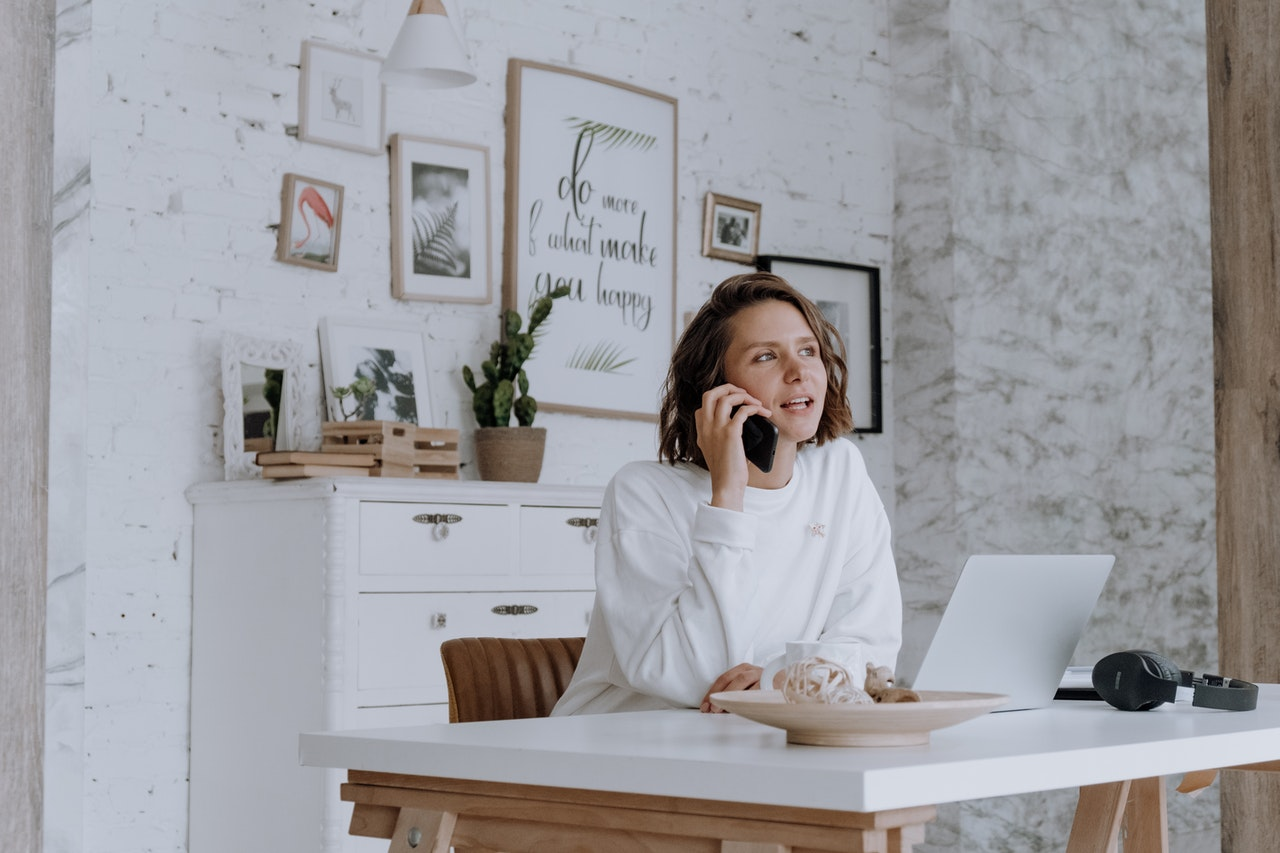 employee working from home