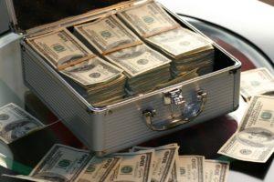cash in a briefcase