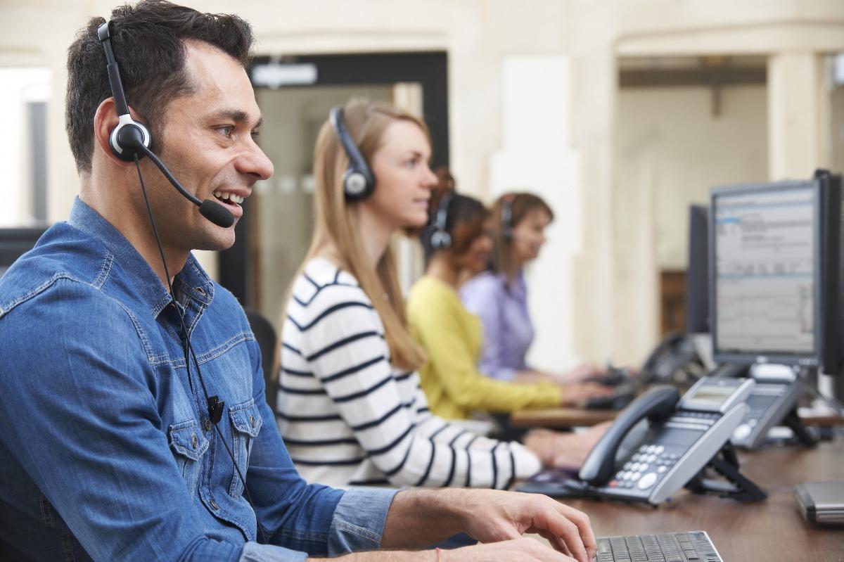 people taking calls
