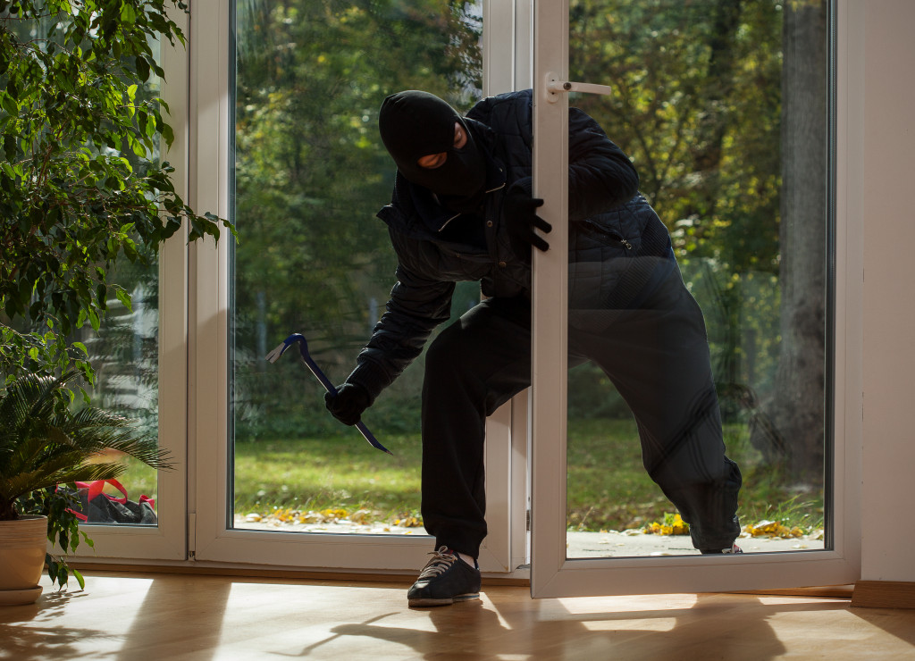 a thief breaking in